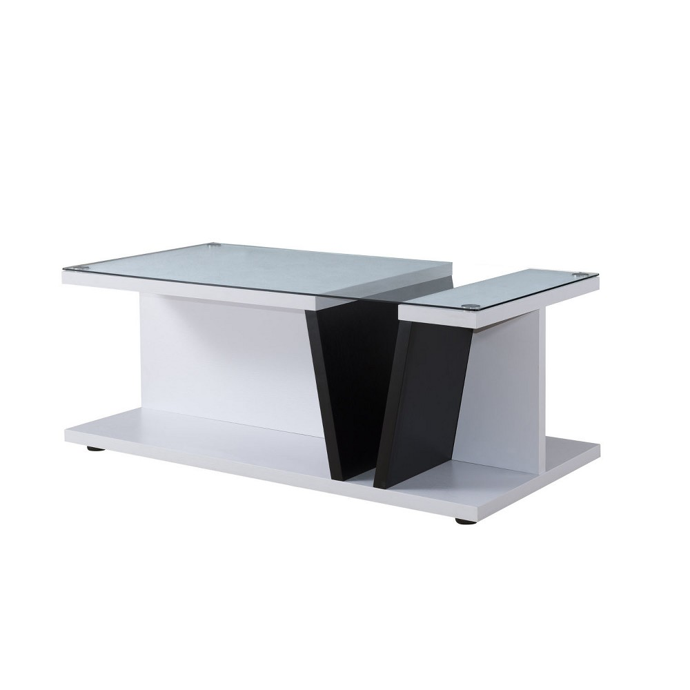 Lofton Contemporary Coffee Table Black and White - Homes: Inside + Out