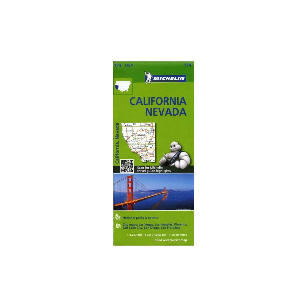 Michelin USA California, Nevada Map 174 - (Michelin Zoom USA Maps) (Paperback)