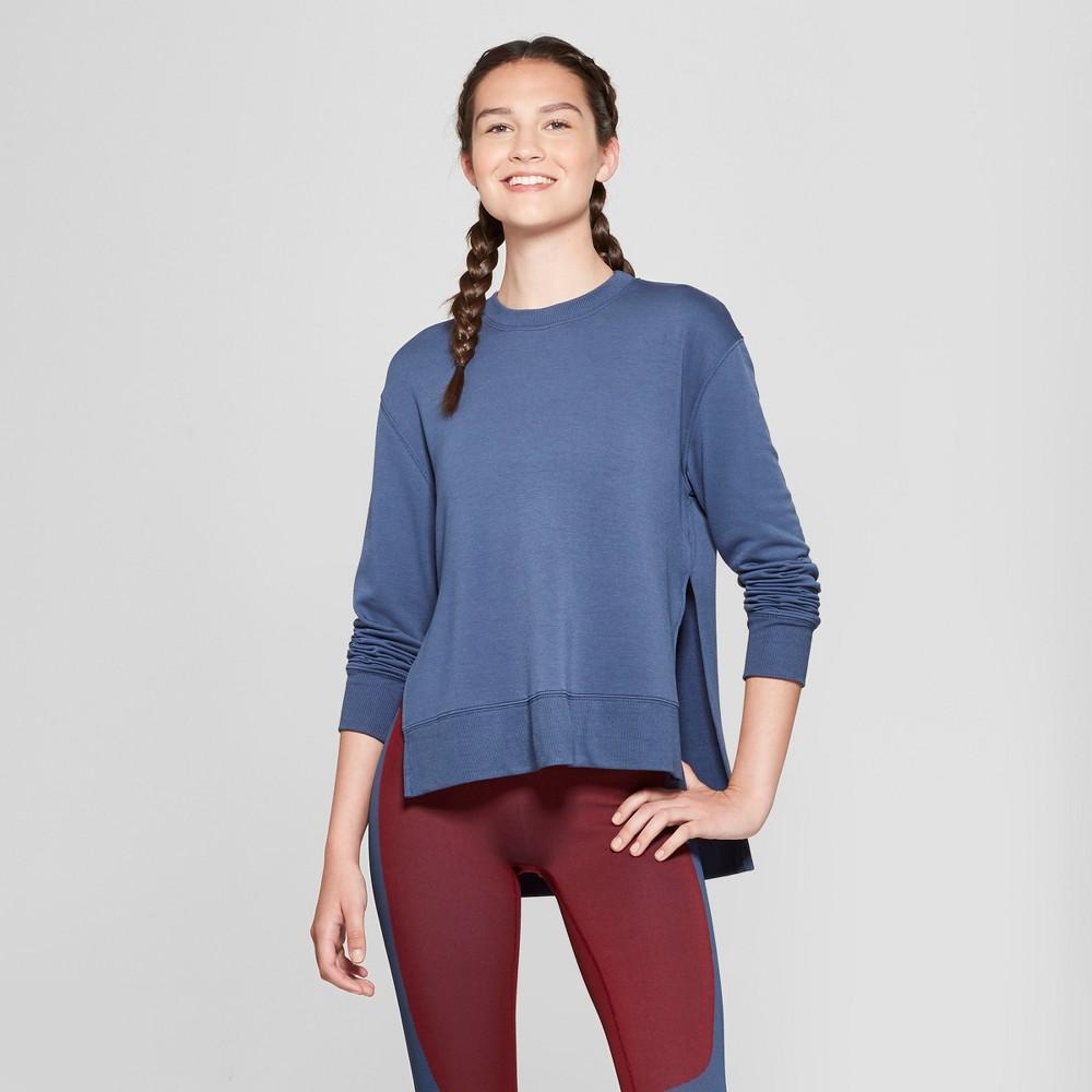 Women's Cozy Layering Sweatshirt - JoyLab Dark Denim Blue S