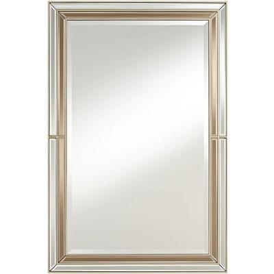 """Possini Euro Design Possini Euro Markis 28"""" x 42"""" Champagne Wall Mirror"""