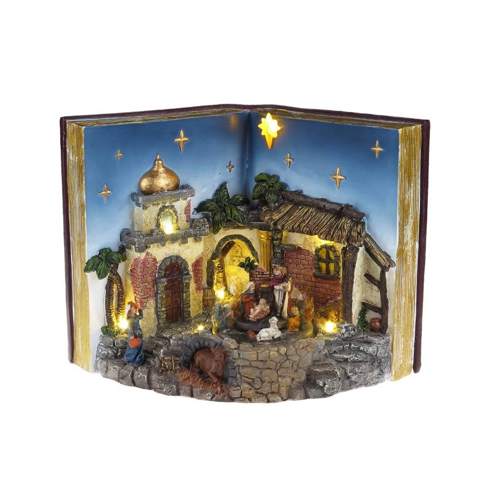 Image of Animated Musical Nativity Decorative Figurine - Mr. Christmas