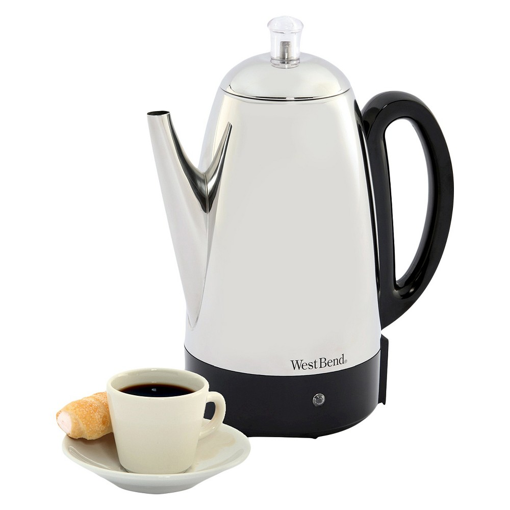 Image of West Bend 12-cup Coffee Percolator, Silver