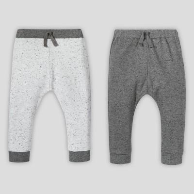 Lamaze Baby's Organic 2pk Pants - Gray Newborn