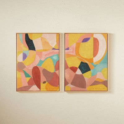 """(Set of 2)18"""" x 24"""" Shapes and Lines Framed Wall Arts - Opalhouse™ designed with Jungalow™"""