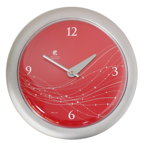 """Chicago Lighthouse 14""""x1.8"""" Vines And Dots Decorative Wall Clocks - image 1 of 3"""