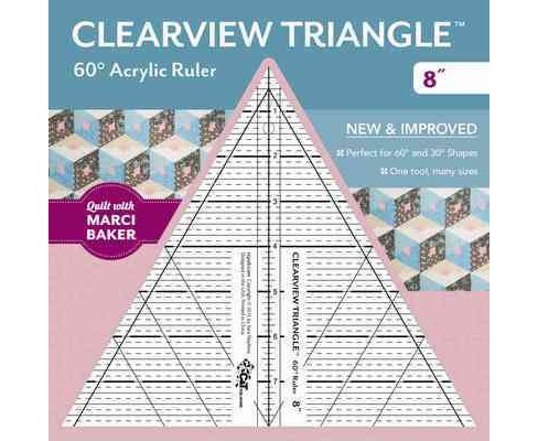 Clearview Triangle 60-degree Acrylic Ruler (Accessory) - image 1 of 1
