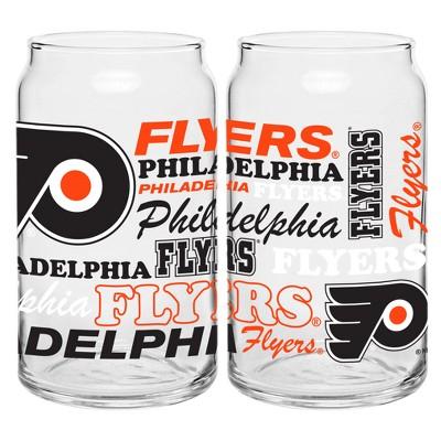 Philadelphia Flyers 2pk Spirit Can Glasses