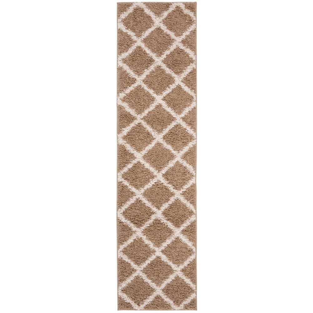 2'X8' Loomed Geometric Runner Rug Medium Beige/Ivory - Safavieh