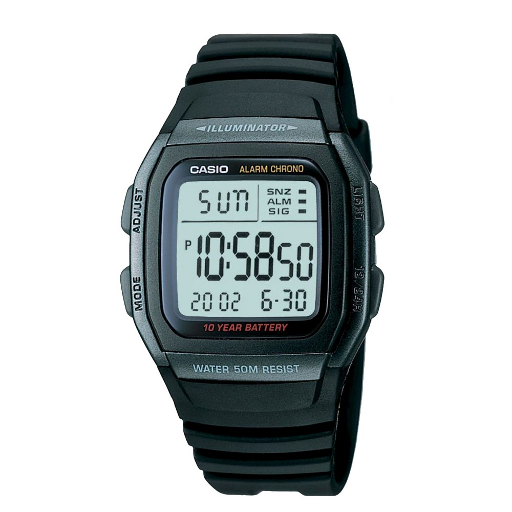 Image of Casio Men's Classic Sport Watch - Black (W96H-1BV), Size: Small