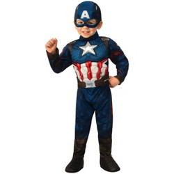 Toddler Boys' Marvel Captain America Deluxe Muscle Halloween Costume