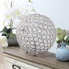 """10"""" Elipse Crystal Ball Sequin Table Lamp Chrome - Elegant Designs - image 3 of 4"""