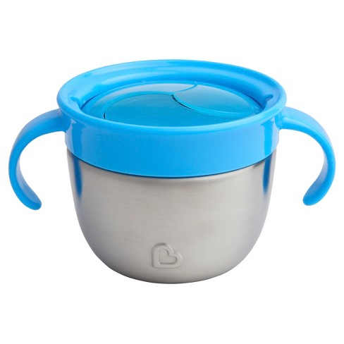 Munchkin Snack+™ Stainless Steel Snack Catcher® with Lid - Blue : Target