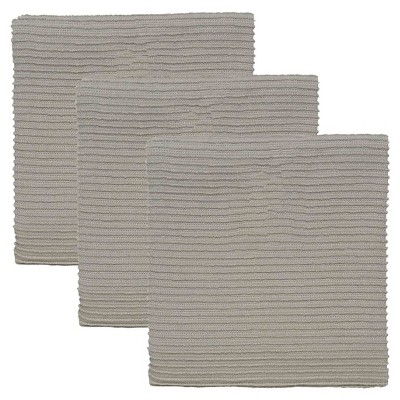 Gray Turkish Cotton Ripple Kitchen Towels (Set Of 3)