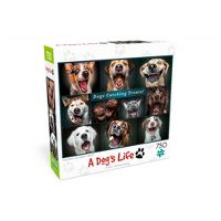 Buffalo Games A Dog's Life: Catching the Perfect Treat! Jigsaw Puzzle (750 Pieces)