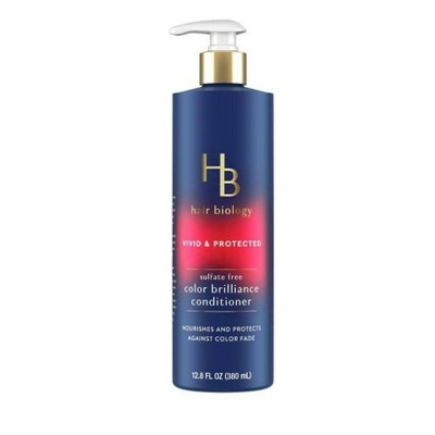 Hair Biology Color Brilliance Conditioner with Biotin Vivid & Protected for Gray or Color Treated Hair - 12.8 fl oz.