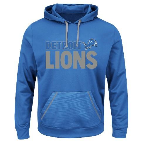 Detroit Lions Men's Performance Pullover Fleece Hoodie Sweatshirt L - image 1 of 1
