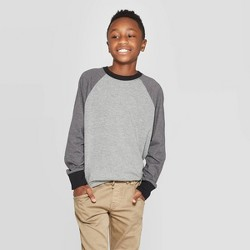 Boys' Long Sleeve T-Shirt - Cat & Jack™ Black