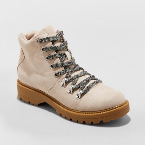 f9ee3f8ebac Women's Karri Lace Up Hiker Boots - Universal Thread™ Blush 10