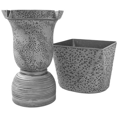 """11"""" Indoor/Outdoor Polyresin 4-in-1 Fountain Tower with Planter - Bernini"""