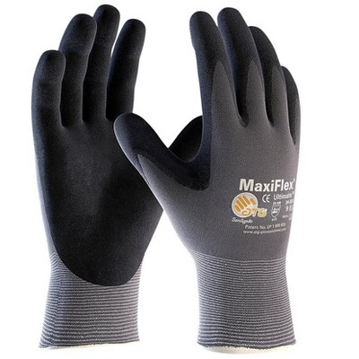 G-Tek MaxiFlex Ultimate Nitrile Coated Gloves Gray 34-874/XL