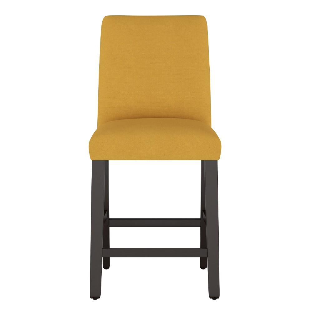 Modern Counter Stool Yellow Linen - Project 62