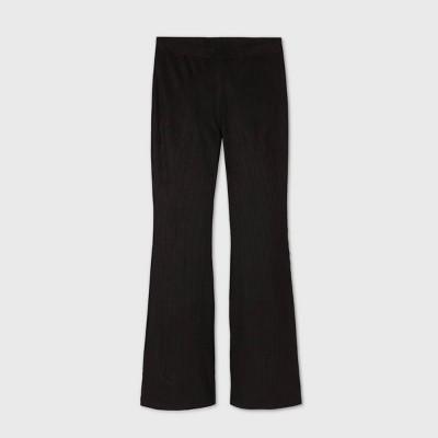 Girls' Corduroy Ribbed Flare Pants - art class™ Black
