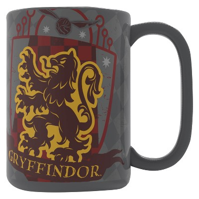 Harry Potter 15oz Ceramic Gryffindor Mug Gray/Red - Zak Designs