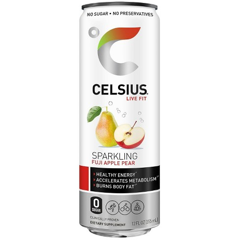 Celsius Fuji Apple Pear Sparkling Energy Drink - 12 fl oz Can - image 1 of 4