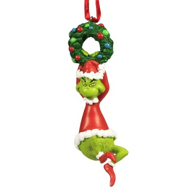 """Holiday Ornament 4.5"""" Grinch On Wreath Ornament Dr Seuss  -  Tree Ornaments"""