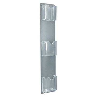 Azar Three-Pocket Vertical Wall Mount Brochure Holder 2ct