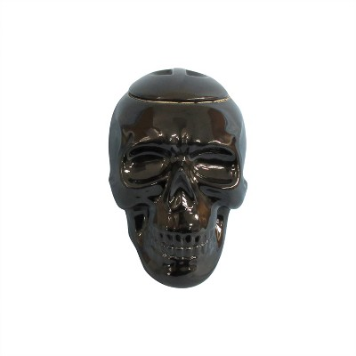 Large Halloween Skull Candy Jar Black - Hyde and Eek! Boutique™