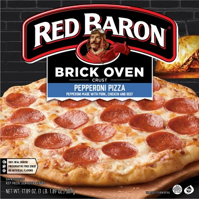 Red Baron Brick Oven Pepperoni Frozen Pizza - 17.89oz