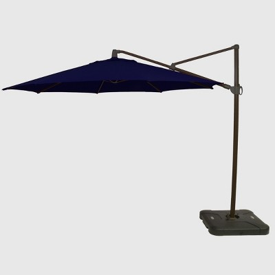 11' Offset Patio Umbrella Sunbrella Spectrum Indigo - Black Pole - Smith & Hawken™
