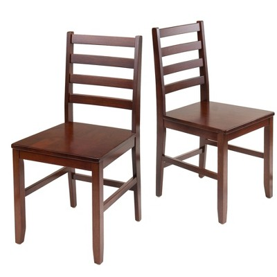 Hamilton 2 Piece Ladder Back Chair - Antique Walnut - Winsome
