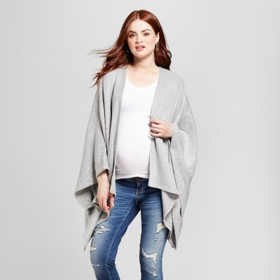 Maternity Cozy Wrap Cardigan - Isabel Maternity™ by Ingrid & Isabel® Heather Gray one size