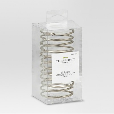 Basic Shower Hooks Brushed Nickel - Threshold™