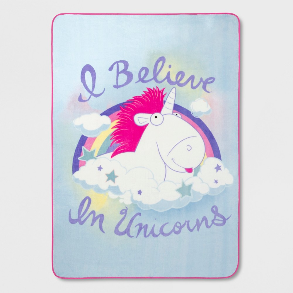 Image of Despicable Me Fluffy Unicorn Twin Microfiber Blanket