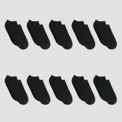 Hanes Women's Extended Size 10pk No Show Socks - 8-12