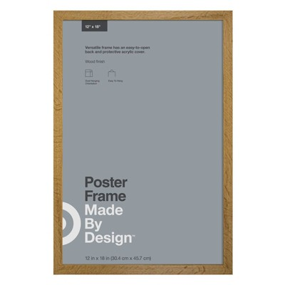 """12"""" x 18"""" Poster Frame Brown - Made By Design™"""