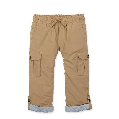 Hope & Henry Boys' Navy Pull-On Cargo Pants, Infant