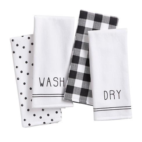 Farmhouse Living Sentiments Kitchen Towels, Set of 4 - 18\