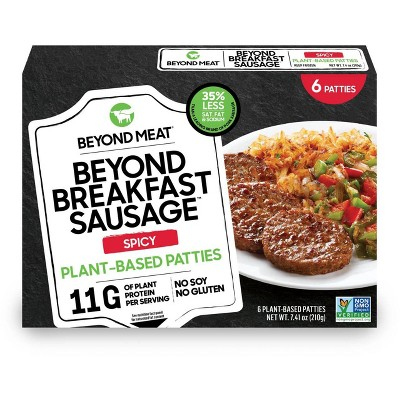 Beyond Meat Plant-Based Spicy Breakfast Sausage Patties - Frozen - 7.4oz