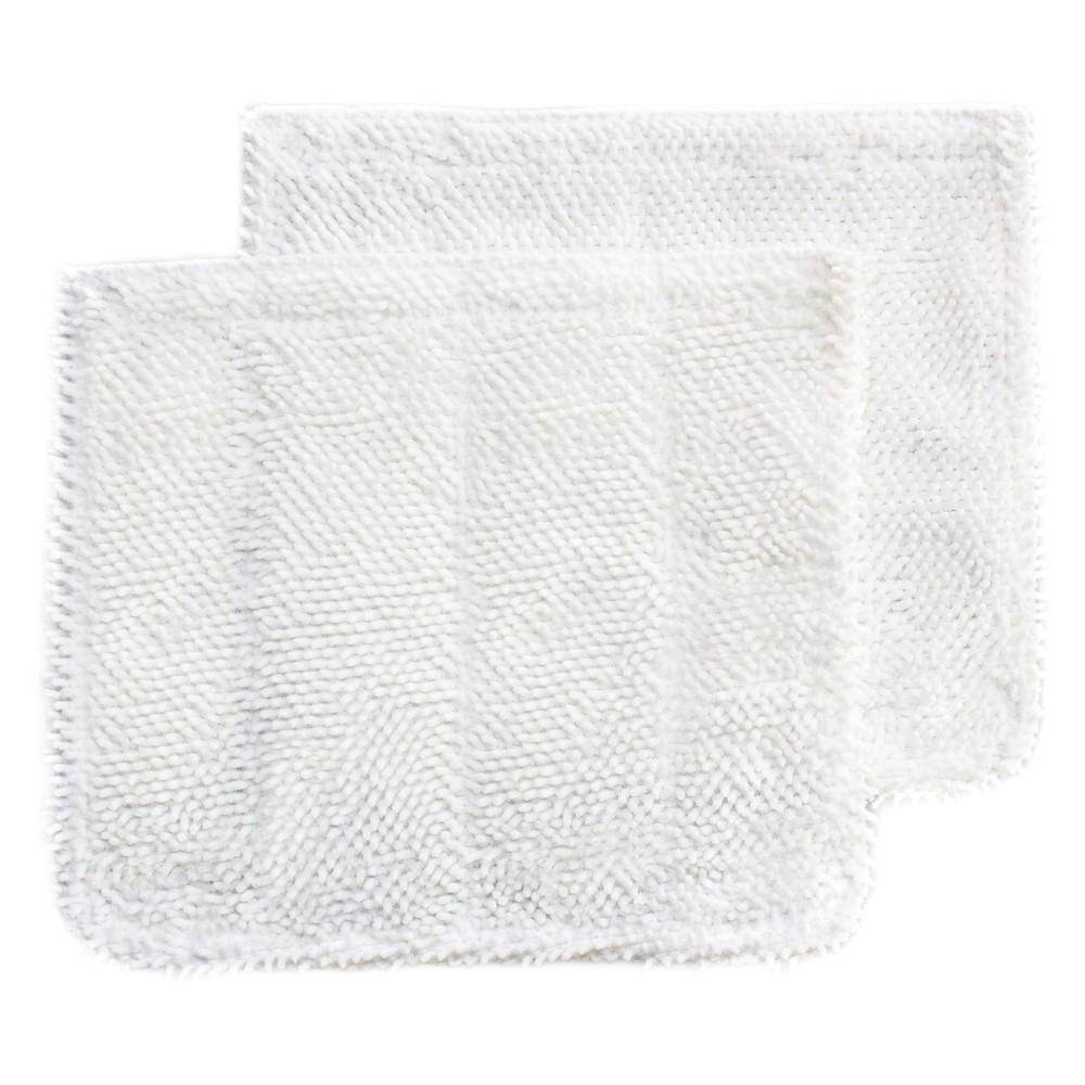 Nugeni Steam Floor Scrubbing Cloth White, 2-pack