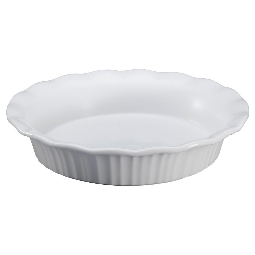 CorningWare Ceramic Pie Pan, White