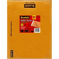 "Scotch Bubble Mailer, 9.5"" x 13.75"", 6PK"