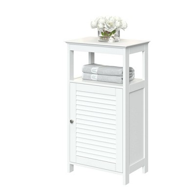 Free Standing Cabinet with Shutter Door White