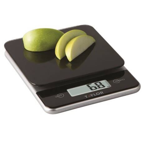 taylor digital 11lb glass top food scale black target