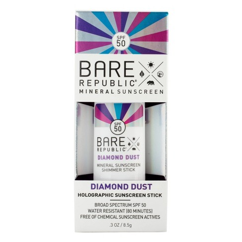 Bare Republic Mineral Shimmer Holographic Sunscreen Stick - SPF 50 - .3oz - image 1 of 4