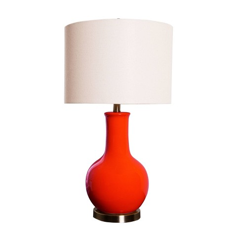 Maybury Ceramic Table Lamp Red  - Abbyson Living - image 1 of 4