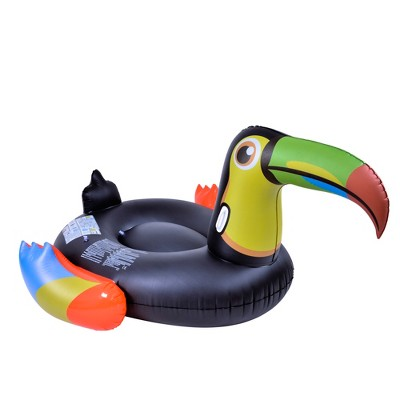 """Pool Central 50"""" Multi Color Toucan Bird Ride On Pool Float"""
